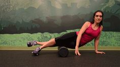 Foam rolling your IT Band