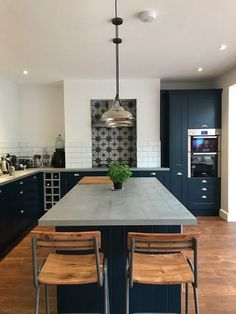 Our Blue Kitchen - A House Project Update - Holly Goes Lightly Blue Kitchens, Room, House, Home Projects, House Extensions, Home, Kitchen, Kitchen Dining, Home Kitchens