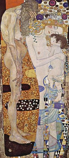 Gustav Klimt: Three Ages of Women, Galleria Nazionale d'Arte Moderna, Rome. Klimt was an Austrian symbolist painter and one of the most prominent members of the Vienna Secession movement. Gustav Klimt, Klimt Art, Art Nouveau, Art Du Monde, Art Plastique, Oeuvre D'art, Oeuvres, Japanese Art, Picasso
