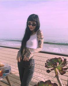 Ideas piercing septo feminino preto for 2019 Tattoed Girls, Inked Girls, Hot Tattoos, Girl Tattoos, Mujeres Tattoo, Estilo Grunge, Alternative Girls, Poses, Dark Fashion