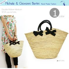 BERTINI Double Ribbon Bag