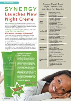 Night cream is an essential for all skin types, which is why we have introduced the new, Synergy Clearly Even Night Creme for oily skins