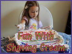 Shaving Cream Art - Thrifty Nifty Mommy
