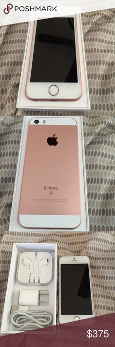 iPhone SE 16 gb att rose gold Phone is in excellent condition. Comes with charger, earphones, and box. Phone has been restored to its original setting. Other