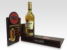 PND PLV - Concepteur et fabricant de solutions permanentes et temporaires de communication Bacardi, Stop Rayon, Counter Display, Wine Rack, Whiskey Bottle, Fabricant, Drinks, Communication, Decor