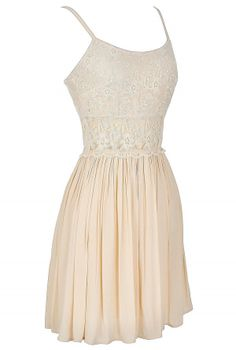 Peace and Love Crochet Floral Lace Dress in Cream Lily Boutique Dance Dresses, Prom Dresses, Summer Dresses, Bridesmaid Dresses, Casual Dresses, Short Dresses, Casual Outfits, Fit And Flare Skirt, Fairy Dress