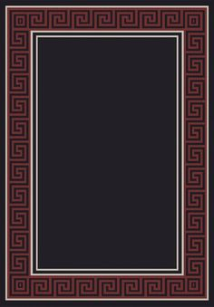 Piazza Black/Red Area Rug