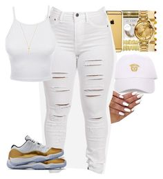 """feeling godly "" by itsbabya1 ❤ liked on Polyvore featuring LE3NO and Gucci"
