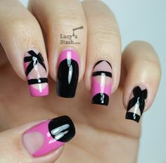 ballet nail, perfect manicur, pink nails, nail art designs, summer nails, nail arts, black nails, nail ideas