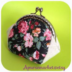 FREE SHIPPING - Handmade coin purse in rose pattern on Etsy, $159.24 HKD