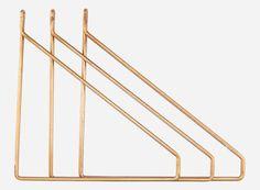 Cb0853 - Hyldebærer, Apart, messingbelagt, sæt a 3 stk., 25,5x26 cm