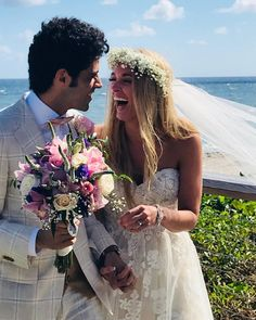 """So happy to be hitched to you 💖 (at Delray Sands Resort) """" Sands Resort, Bouqets, Wedding Inspiration, Purple, Wedding Dresses, Happy, Fashion, Alon Livne Wedding Dresses, Fashion Styles"""