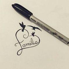 like the heart with familia as tattoo idea