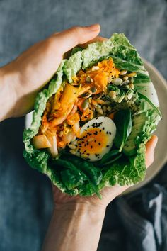 Kimchi Lunch Wrap by helloglow #Wrap #Kimchi #Healthy