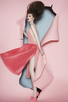 Heather Pegg by Renata Kaveh for Matthew Gallagher S/S 2014. Makeup and hair by Mila Victoria. #fashion #pink