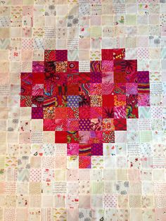 Charm pack or jelly rollHeart Quilt | Flickr - Photo Sharing!