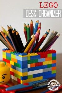 LEGO desk organizer Once you get to the site, scroll down until you see this picture. Look below the picture for Sources and click Kid's Activities. There are your instructions to create you LEGO desk organizer! Diy Lego, Lego Craft, Minecraft Crafts, Crafts For Teens, Diy For Kids, Teen Crafts, Help Kids, Diy Projects For Teens, Lego Desk