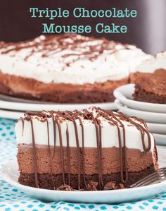 Triple Chocolate Mousse Cake 3