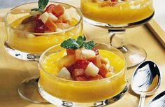 Creme de manga com salada de frutas