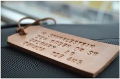 How to: Make a Custom Leather Luggage Tag