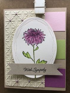 With Sympathy – Endless Creations Rubber Stamps My Favorite Color, My Favorite Things, Deepest Sympathy, The Way Home, Penny Black, Lily Of The Valley, Sympathy Cards, Pattern Paper, Stamps
