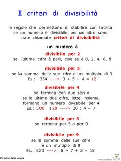 Paradiso delle mappe: Matematica Math 5, Math Tutor, Fun Math, Teaching Math, Primary Maths, Primary School, Algebra, Effective Study Tips, Math Sheets