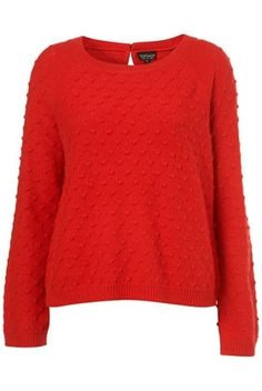 Red Knitted Stitched Tie Back Top - Knitwear - Clothing - Topshop - StyleSays
