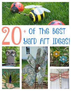 The Best DIY Yard Art Ideas - so many awesome ideas for your Yard & Garden that you can create yourself!