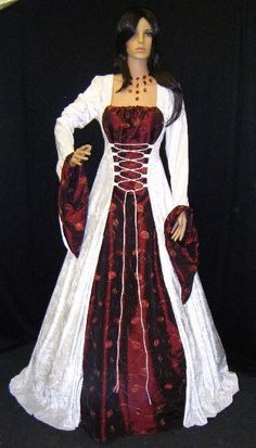medieval handfasting dress renaissance wedding by camelotcostumes, $185.00