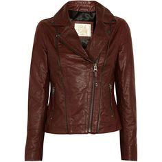 Sara Berman Rudy leather biker jacket ($410) ❤ liked on Polyvore