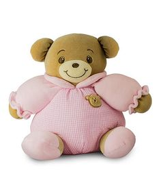 Another great find on #zulily! Pink Teddy Bear Rattle Plush Toy #zulilyfinds