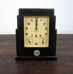 Vintage 1920 Lux Clock Co Oven Timer / Antique Art Deco by MidMod