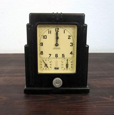 Vintage 1920 Lux Clock Co Oven Timer / Antique Art Deco by MidMod