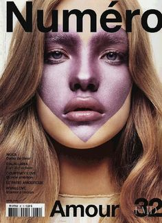 Cover of Num�ro France with Natalia Vodianova, April 2002 (ID:17925)| Magazines…