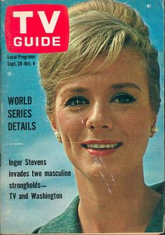 Sixties | Inger Stevens on the cover of TV Guide