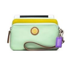 Coach 49052 Candied Aqua/celadon New Wristlet. Get the trendiest Clutch of the season! The Coach 49052 Candied Aqua/celadon New Wristlet is a top 10 member favorite on Tradesy. Save on yours before they are sold out!