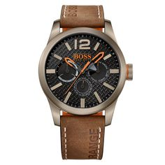 d851b3b45b6 HUGO BOSS WATCHES Hugo Boss Orange Brown Tan Logo Strap Watch - Accessories  from Brother2Brother UK