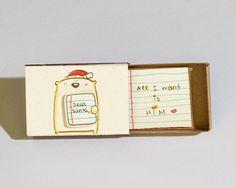 Love Christmas Card/ Bear Christmas Card/ Holiday Card/ by shop3xu