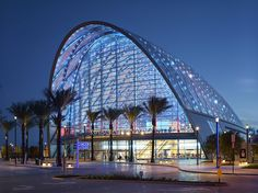 Anaheim Regional Transportation Intermodal Center (ARTIC) / HOK - The Anaheim Regional Transportation Intermodal Center (ARTIC) sets a precedent for civic-minded transit hubs in the US. HOK and Parsons Brinckerhoff designed ARTIC as an innovative new transit station that serves as a destination in itself. The project brings together transit, dining, retail and entertainment options in an iconic terminal building...