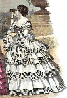 1855. La Moniteur de la Mode.