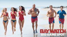 """BAYWATCH starring Dwayne Johnson & Zac Efron 