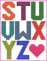 Sugar Tart Crafts: Plastic Canvas Alphabet
