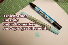 Comment transformer un stylo ou un Promarker en Copic gratuitement!!