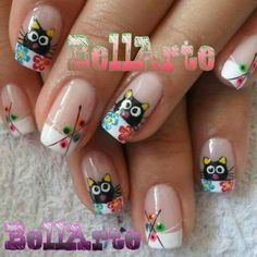 Uñas Cute Pink Nails, Cute Nail Art, Pretty Nails, Pink Nail Designs, Nail Designs Spring, Different Types Of Nails, Nails First, Cat Nails, Nail Art Videos