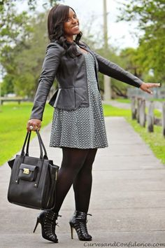 Leather Jacket | Plus Size Fall Fashion Looks, check it out at http://youresopretty.com/plus-size-fashion