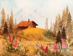 Fireweed Cabin. oil painting on canvas, 12 x 16