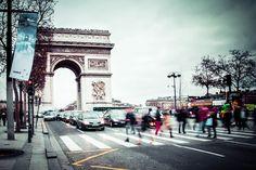 Photograph Arc de Triomphe by Romana Murray on Triomphe, Champs Elysees, Brooklyn Bridge, Louvre, Photograph, World, Travel, Photography, Viajes