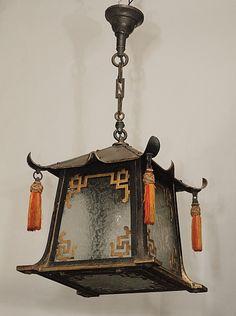 Antique Pagoda Hall Lantern circa 1890-1910 | Keils Antiques | New Orleans | Since 1899