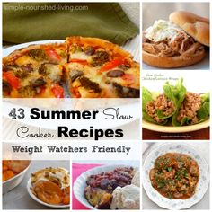 43 Summer Slow Cooker All Weight Watchers Friendly #SlowCooker #WeightWatchers