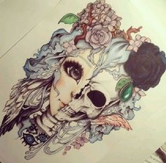 drawing art kawaii beautiful indie Grunge skull punk Alternative drawings that-valeska Gothic Kunst, Gothic Art, Anime Body, Mädchen Tattoo, Tattoo Arrow, Snake Tattoo, Tattoo Thigh, Pastel Goth Art, Illustration
